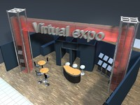 exhibition stand presentation 3ds