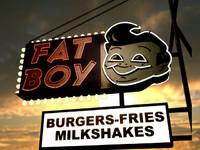 fat boy burgers 3d model