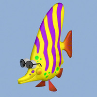 3d toon fish pzsg fshan model