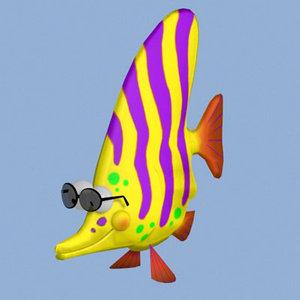 3d toon fish pzsg fshan model