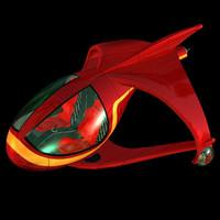 futuristic hover car 3d model