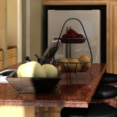 basket kitchen 3d max