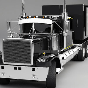 3d semi truck generic