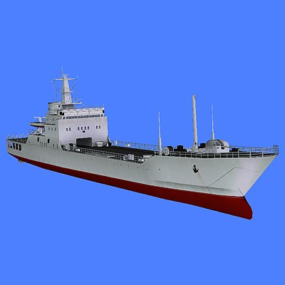 chinese ship type 072-iii 3d model
