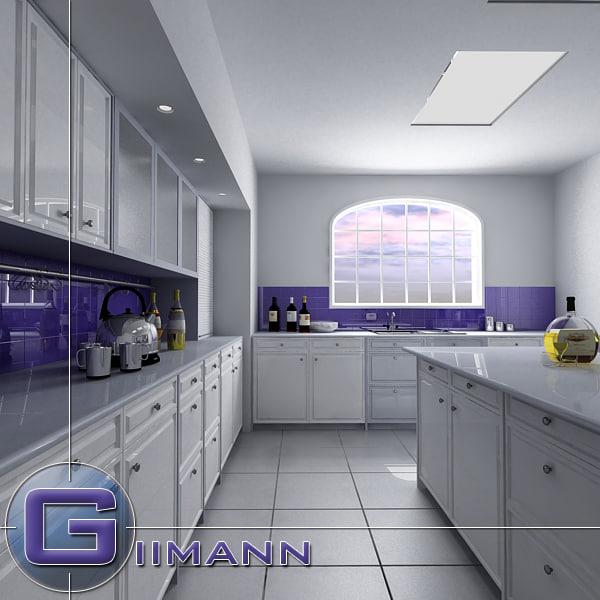 kitchen interior house 3d 3ds