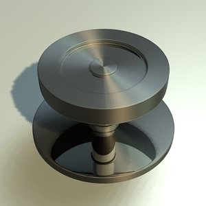 door knob 3d x