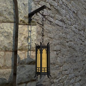 gothic lantern 3d model