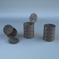 3d lwo metalic cans