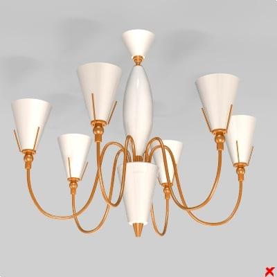 3ds max chandelier light