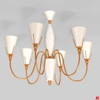 3ds max chandelier light