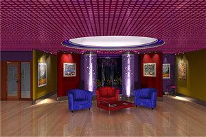 3d museum lightwave furniture