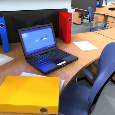 modular office unit 3ds