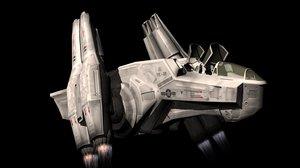 spacecraft engines 3d c4d