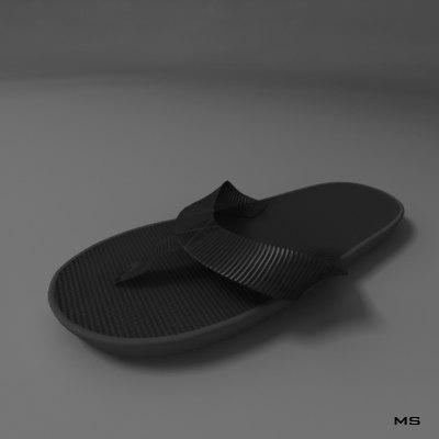 grey slipper 3d max