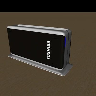 3d model toshiba external hdd