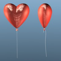 3ds max heart balloon