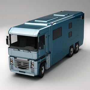 3d camper truck camp
