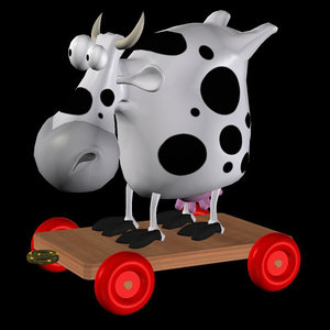 poser toon cow toy pzsg