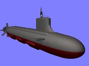 seawolf attack submarine 3d cob