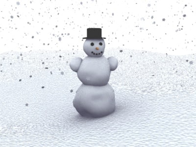 scene snowman 3d max