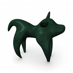 3dsmax bull statuette