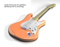 creamsicle 70s electric guitar 3ds