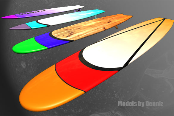 3dsmax surfboard surf