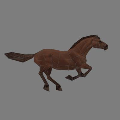 3ds max polygonal horse animation