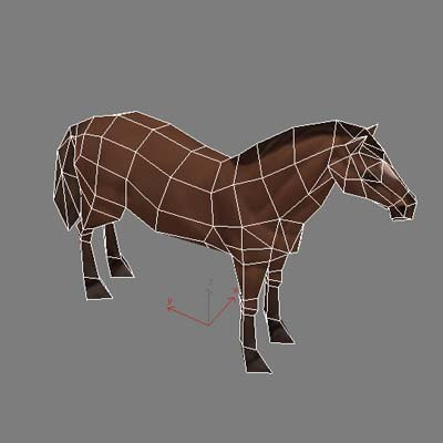 max horse polygonal rigged