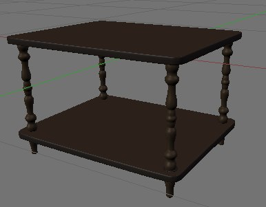 tv coffee table 3d model