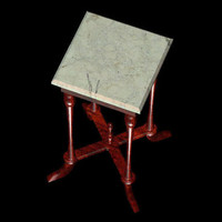 3d antique table pztbl nite model