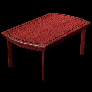 3d model modern dining table pztbl