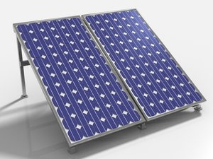 obj solar pv panel array