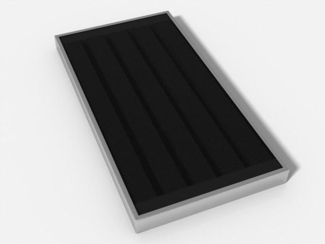 3d solar hot water panel model