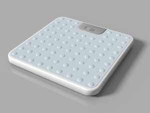 3d digital bathroom scale model