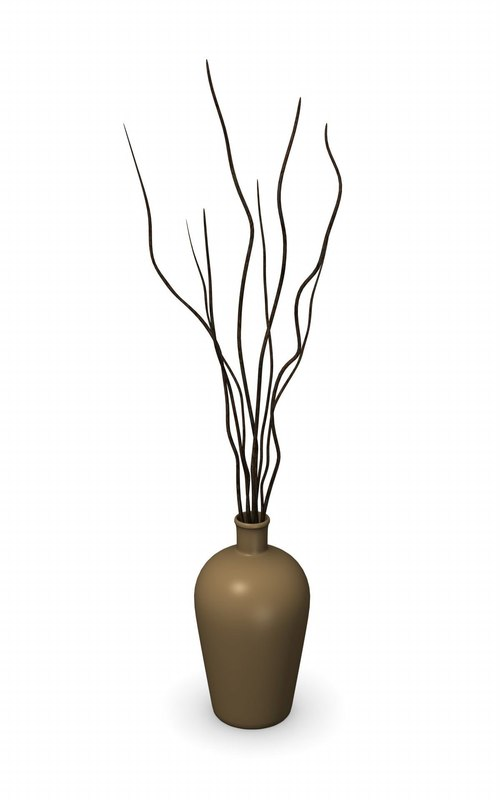 3d lwo vase decoration