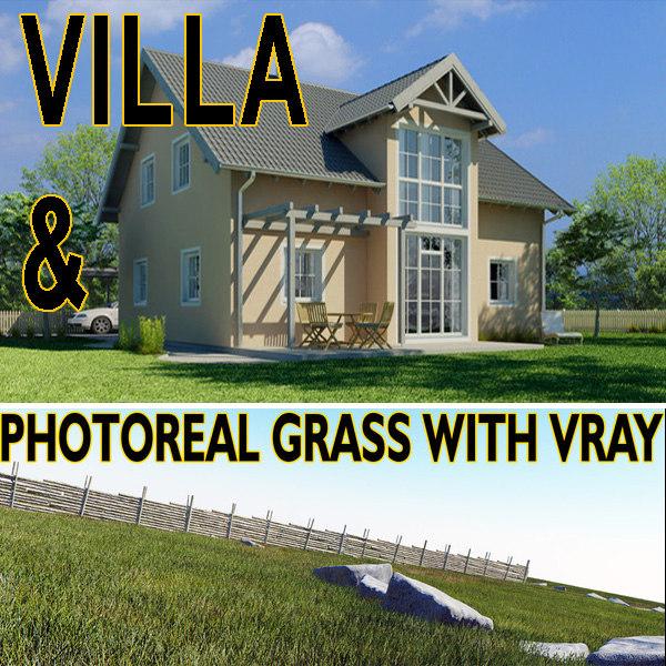 3d grass photoreal garden