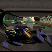 pz3 futuristic spacecraft pzvtol
