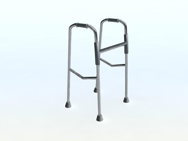 free walker old handicapped 3d model