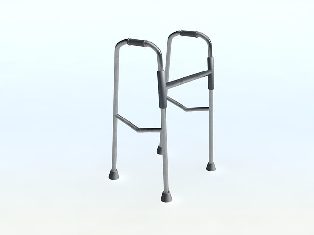 free walker old handicapped 3d model