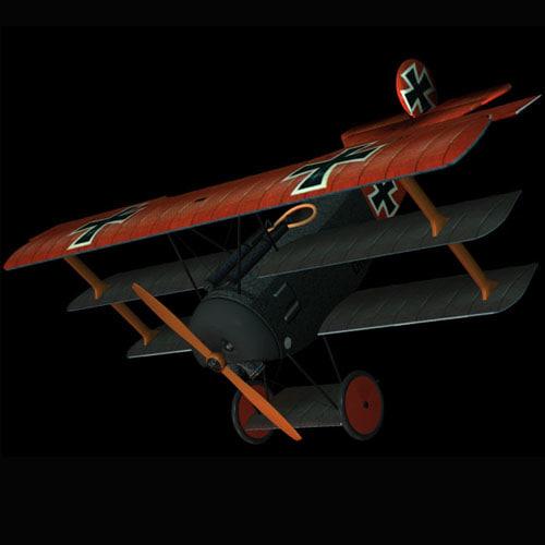 dr1 fokker fighter plane 3d model