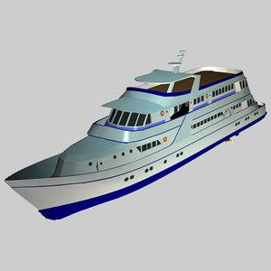 boat yacht pzyacht172 3d model