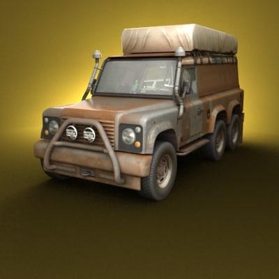 road truck 3d model