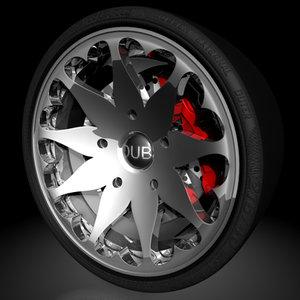 c4d flower heart wheel