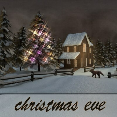 3d 3ds house christmas