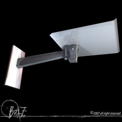 tv wall bracket 3d model
