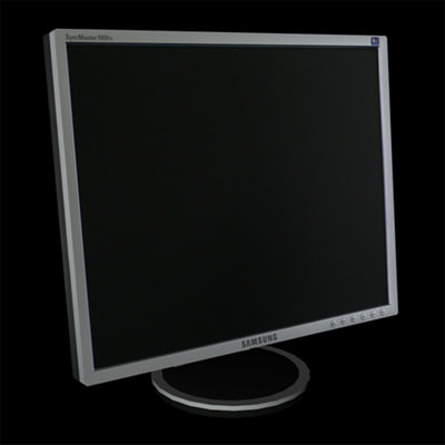 low-poly monitor samsung 940sf c4d