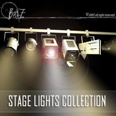 stage lights - set 3ds