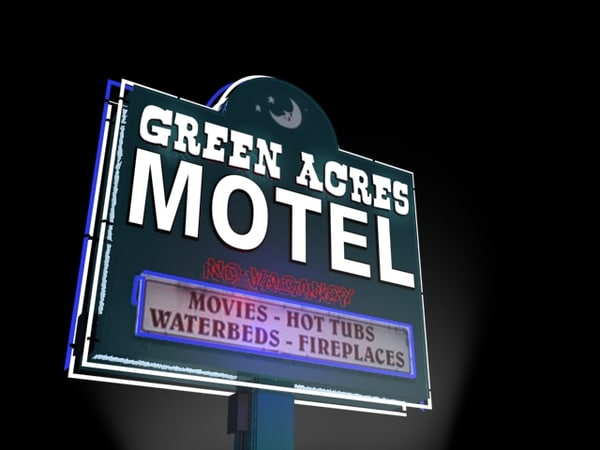 green acres motel sign 3d model