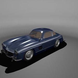 mercedes-benz gullwing 300sl 1956 3d 3ds